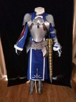 画像1: Fate/Grand Order アーサー・ペンドラゴン 風 コスプレ衣装