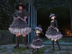画像1: Final Fantasy XVI  死者の宮殿 50F  漆黒のエッダ 風 コスプレ衣装