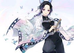 画像1: 鬼滅の刃 胡蝶 しのぶ 風 コスプレ衣装
