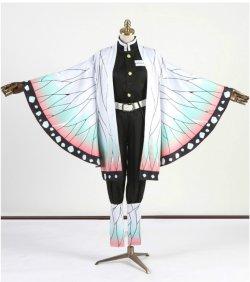 画像2: 鬼滅の刃 胡蝶 しのぶ 風 コスプレ衣装