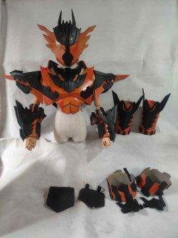 画像4:  仮面ライダークローズマグマCross-Z Magma  風 コスプレ衣装