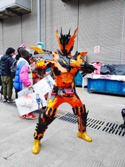 画像3:  仮面ライダークローズマグマCross-Z Magma  風 コスプレ衣装