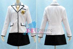 画像1:  S・A 白選館 高校女子制服 ●コスプレ衣装